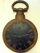 Early 19th Century Fusee Watch Clock Jewelry Repair Trade Sign Wood And Cast Iron