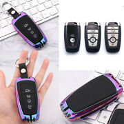Rainbow Color Plug-in Folding Type Key Fob Case Cover For Ford Fusion F150 F250