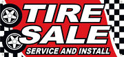 Tire Sale Service Install Vinyl Banner Auto Sign Rb - Multi Sizes