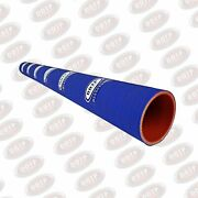 Silicone Coolant Hose 2.50x36 3ft 4-ply Blue For Heavy Duty Truck Radiator