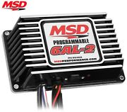 Msd 65303 6al-2 Programmable Ignition Box Built-in 2 Step Sbc Bbc Sbf Chevy Ford