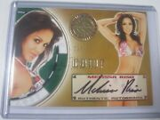 2013 Benchwarmer Vegas Baby Gold Comp Auto Signature Melissa Riso And039d 12/21