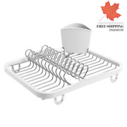 Sinkin Dish Drying Rack Kitchen Sink Caddy With Removable Cutlery Holder Fits...