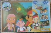 Disney Jake And The Never Land Pirates 4 Wood Puzzle Set 24 Piece Per Puzzle