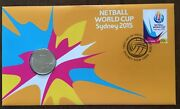 2015 Netball World Cup Sydney Stamp First Day Cover 20c Coin Pnc