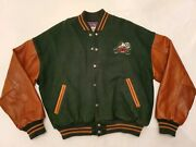Vintage Limited Edition Disney Wool And Leather Bomber Jacket