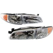 Headlight Lamp Left-and-right Gm2503170 Gm2502170 19149891 19149893 Lh And Rh