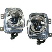 Set Of 2 Fog Lights Lamps Front Left-and-right Ac2593113c Ac2592113c Pair