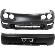 Ac1000130 Ac1100132 Set Of 2 Bumper Covers Front And Rear For Acura Integra Pair