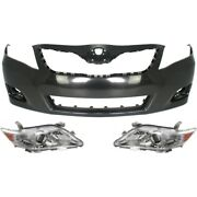 Bumper Cover Kit For 2010-2011 Toyota Camry Front Us Built Model