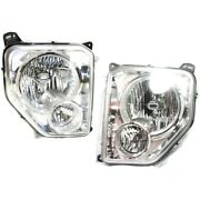 Headlight Lamp Left-and-right Lh And Rh Ch2502199, Ch2502233, Ch2503199, Ch2503233