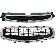 Pair Grille Assemblies Set Of 2 Upper For Chevy Chevrolet Cruze Limited 2016