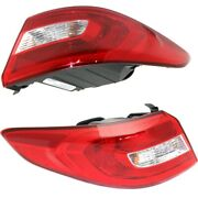 Set Of 2 Tail Lights Lamps Left-and-right Outside Hy2804129c, Hy2805129c Pair