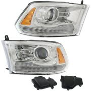 Hid Headlight Lamp Left-and-right Hid/xenon Lh And Rh For Ram Ch2502290 Ch2503290