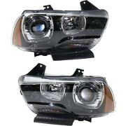 Hid Headlight Lamp Left-and-right Hid/xenon Lh And Rh Ch2502236q Ch2503236q