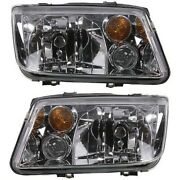 Headlight Lamp Left-and-right For Vw Vw2502124 Vw2503124 Lh And Rh Jetta 02-05