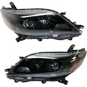 Headlight For 2015-2019 Toyota Sienna Driver And Passenger Side Pair
