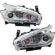 Headlight For 2017 Nissan Murano Driver And Passenger Side Pair Capa