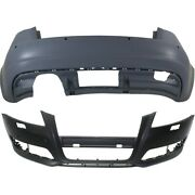 Bumper Covers Set Of 2 Front And Rear Au1000201, Au1100191 For Audi A3 09-13 Pair