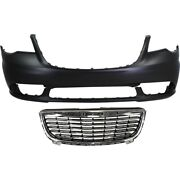 Bumper Cover Grille Assembly For 2011-2016 Chrysler Town And Country Front Kit