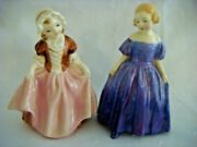 2 Vintage Royal Doulton Small Figurines Dinky Do Hn21201935 And Marie Hn 1370