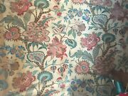 Beautiful 19th C. French Printed Cotton Jacobean Fabric 2918