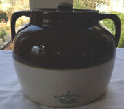 Vintage Robinson Ransbottom Bean Pot With Cover Pristine Crown 4 Marking