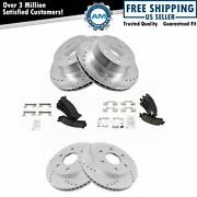 Front And Rear Ceramic Disc Brake Pad Performance Rotor And Hardware Kit For Gm New