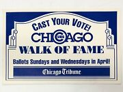 Cubs Wak Of Fame 1992 Chicago Tribune Newsstand Sign Poster 11x17