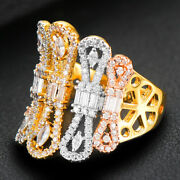 Luxury Noble Wide Handmade Rings For Women Romantic New Gorgeous Jewelry H234