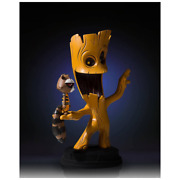 Marvel Guardians Of The Galaxy Animated Style Groot And Rocket Raccoon Statue Coa
