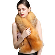 Real Whole Fox Fur Scarf Winter Warm Shawl Wrap For Party Christmas Gift Elegant