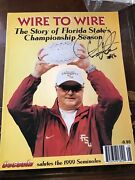 Chris Weinke Autographed Wire To Wire The Story Of Florida Stateand039s Championship