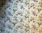 Beautiful 19th C. French Floral Botanical Fabric 2920