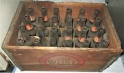 Antique Wehle Ale Lager Beer Brewing Wood 24 Glass Bottle Art Box Crate Sign Us