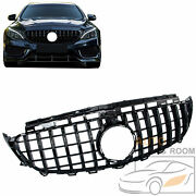 For 2016-2020 Mercedes W213 E300 E350 Black Gt R Style Front Hood Grille Grill