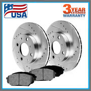 Front Brake Rotors And Ceramic Pads 2003 - 2008 2009 2010 Chevy Cobalt Saturn Ion