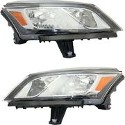 Gm2502375c, Gm2503375c Headlight Lamp Left-and-right For Chevy Lh And Rh Traverse