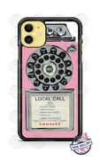 Vintage 1950and039s Pay Phone Pink Phone Case For Iphone 11pro Samsung Lg Google