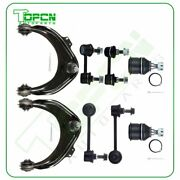 For 1998-2002 Honda Accord 8pcs Front Upper Control Arms Sway Bars Ball Joints