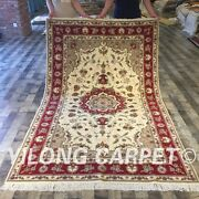 Clearance Yilong 5and039x8and039 Handmade Wool Rugs Woollen Handwoven Blanket Carpet 2028
