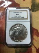 1988 Silver Eagle S1 Ms69 Ngc