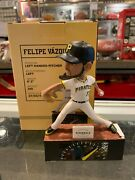 Felipe Vasquez Pittsburgh Pirates Signed And039and039nightmareand039and039 Bobble Head Doll Ironic
