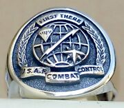 Sterling Silver 925 Air Force Special Tactics Combat Control Team Emblems Ring