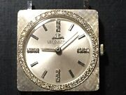Lecoultre 14k Diamomd Mens Or Ladies Watch 50 Genuine Diamonds Reference7506d