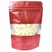 Matte Red Zip Seal Aluminum Bottom Gusset Bags For Bread Flour Products 18x26cm