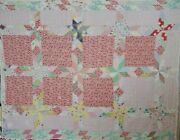 Antique Star Country Cottage Quilt 1940s