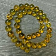 10mm-11.5mm 100 Natural Mexican Chiapas Amber Round Sphere Bead 18 Inch Strand