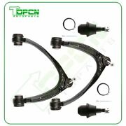 Front 2x Upper Control Arms 2x Lower Ball Joints For 07-15 Chvey Silverado 1500
