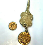 Unknown Chicago Hotel Key Ring Chain + Key Vintage Keychain Room 2117 Rare